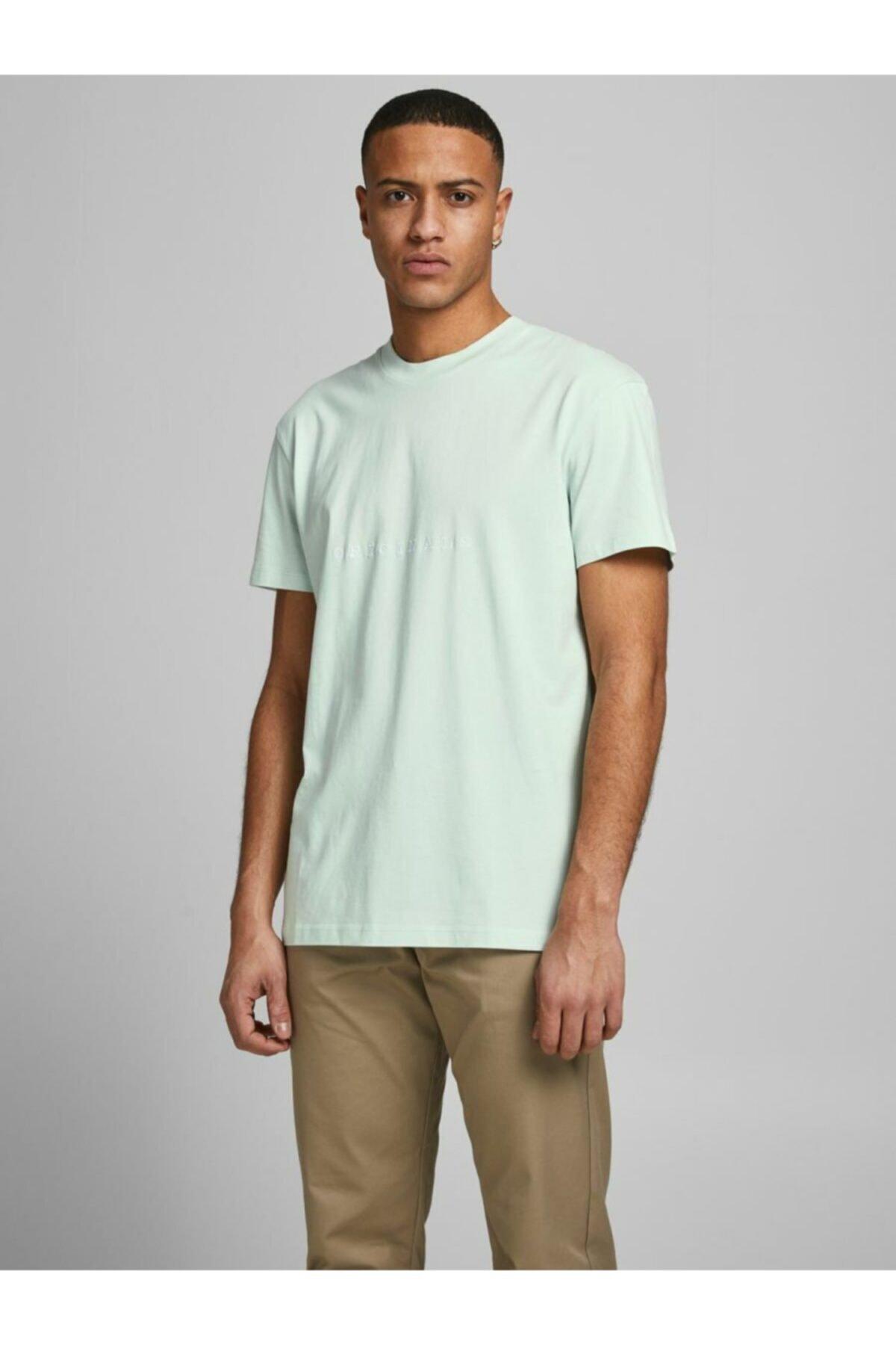 Jack & Jones Erkek Turkuaz Kısa Kollu T-Shirt 12176780 1
