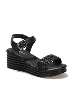 Polaris 317662.Z 1FX Siyah Kadın Dolgu Topuklu Sandalet 101025390