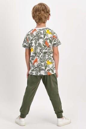 ROLY POLY Erkek Çocuk Haki Jungle Monkey Pijama Takımı