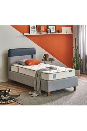 Yataş Bedding Loris Sandıklı Yatak Baza Başlık Genç Seti - Multi Yatak - Tek Kişilik - Mavi - Lacivert