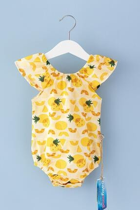 Babymod Kız Bebek Sarı Ananas Temalı Yazlık Tulum