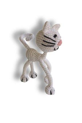 İlmek Bebek Amigurumi El Örgüsü Oyuncak Kedi Safiye