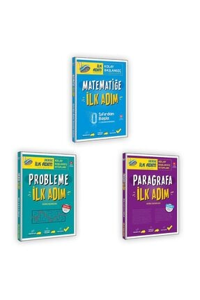 İlk Adım Yayınları Matematiğe Ilk Adım + Probleme Ilk Adım + Paragrafa Ilk Adım
