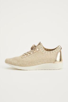 DeFacto Kadın Bej Bağcıklı Sneaker Ayakkabı