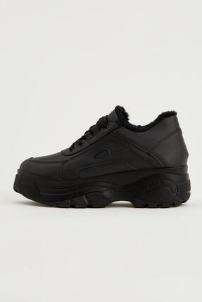 DeFacto Kadın Içi Peluş Detaylı Bağcıklı Sneaker Ayakkabı