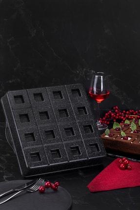 Taç Granit Döküm Brownie Kek Kalıbı Siyah 29 Cm