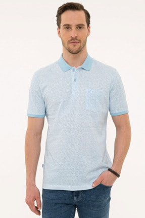 Pierre Cardin Açık Mavi Regular Fit Polo Yaka T-Shirt