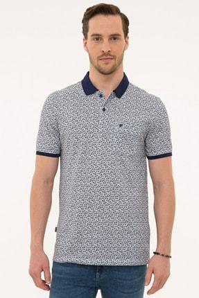 Pierre Cardin Lacivert Regular Fit Polo Yaka T-Shirt