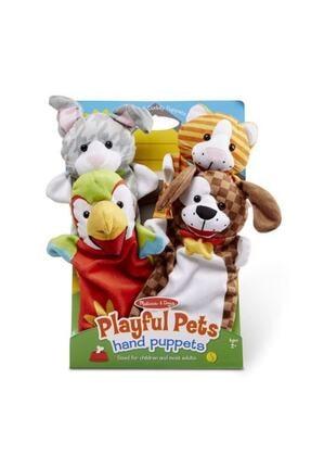 Melissa & Doug 4'lü El Kukla Seti - Evcil Hayvanlar