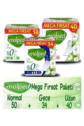 Molped Pure Soft Hijyenik Ped Mega Fırsat Paketi (GECE NORMAL UZUN) 124 Adet