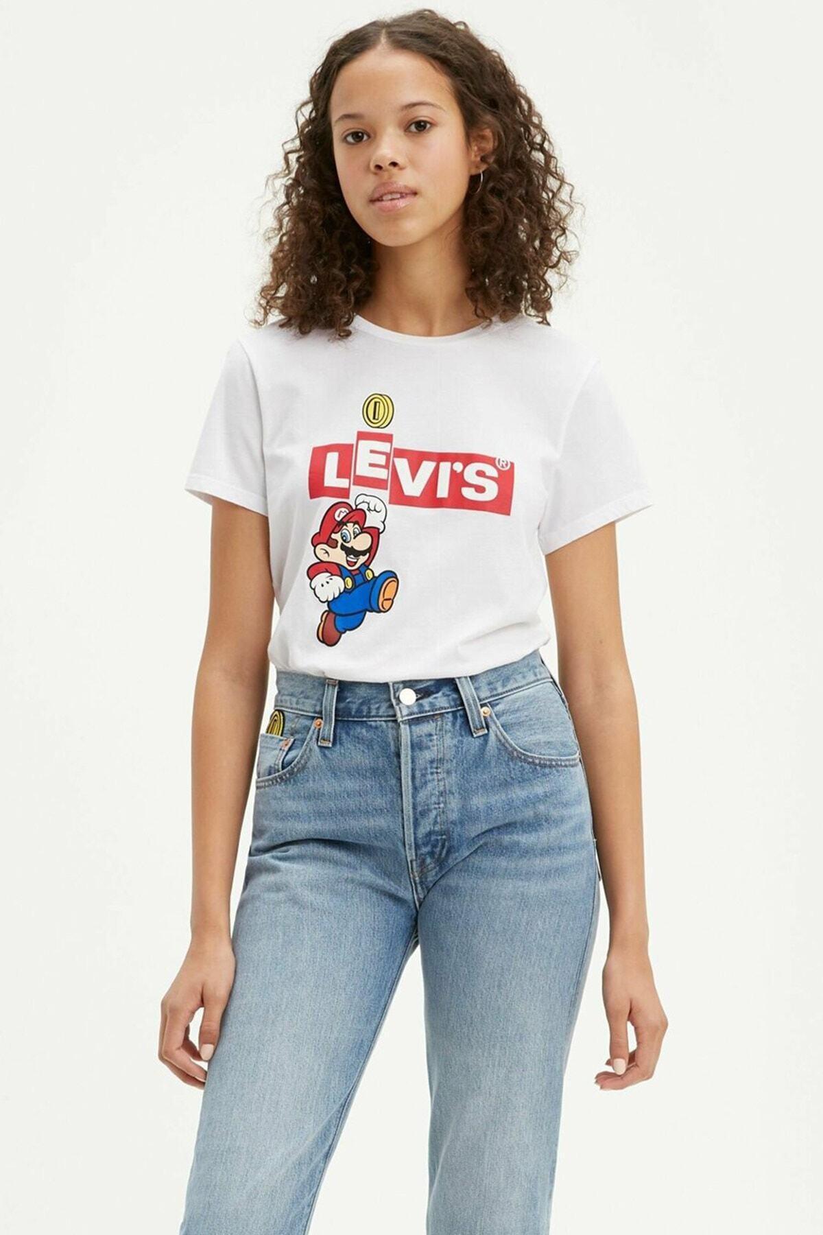 Levi's Kadın Beyaz The Perfect T-Shirt 17369 0909 1