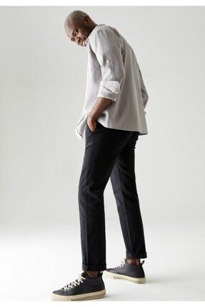 DeFacto Erkek Siyah Regular Fit Basic Pamuklu Chino Pantolon