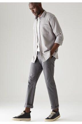 DeFacto Erkek Antrasit Regular Fit Basic Pamuklu Chino Pantolon