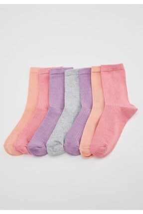 DeFacto Kadın Karma Soket Çorap 7'li