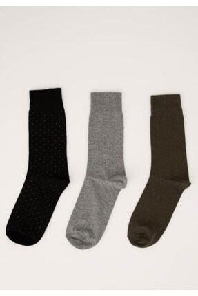 DeFacto Erkek Karma 3'Lü Soket Çorap R8067AZ21SP