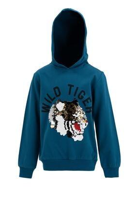 DeFacto Erkek Çocuk Kaplan Baskılı Sweatshirt