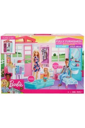 Barbie Pembe Taşınabilir Portatif Evi Fxg54 'nin