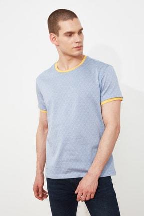 TRENDYOL MAN Lila Erkek Regular Fit Kısa Kollu T-Shirt TMNSS21TS3271