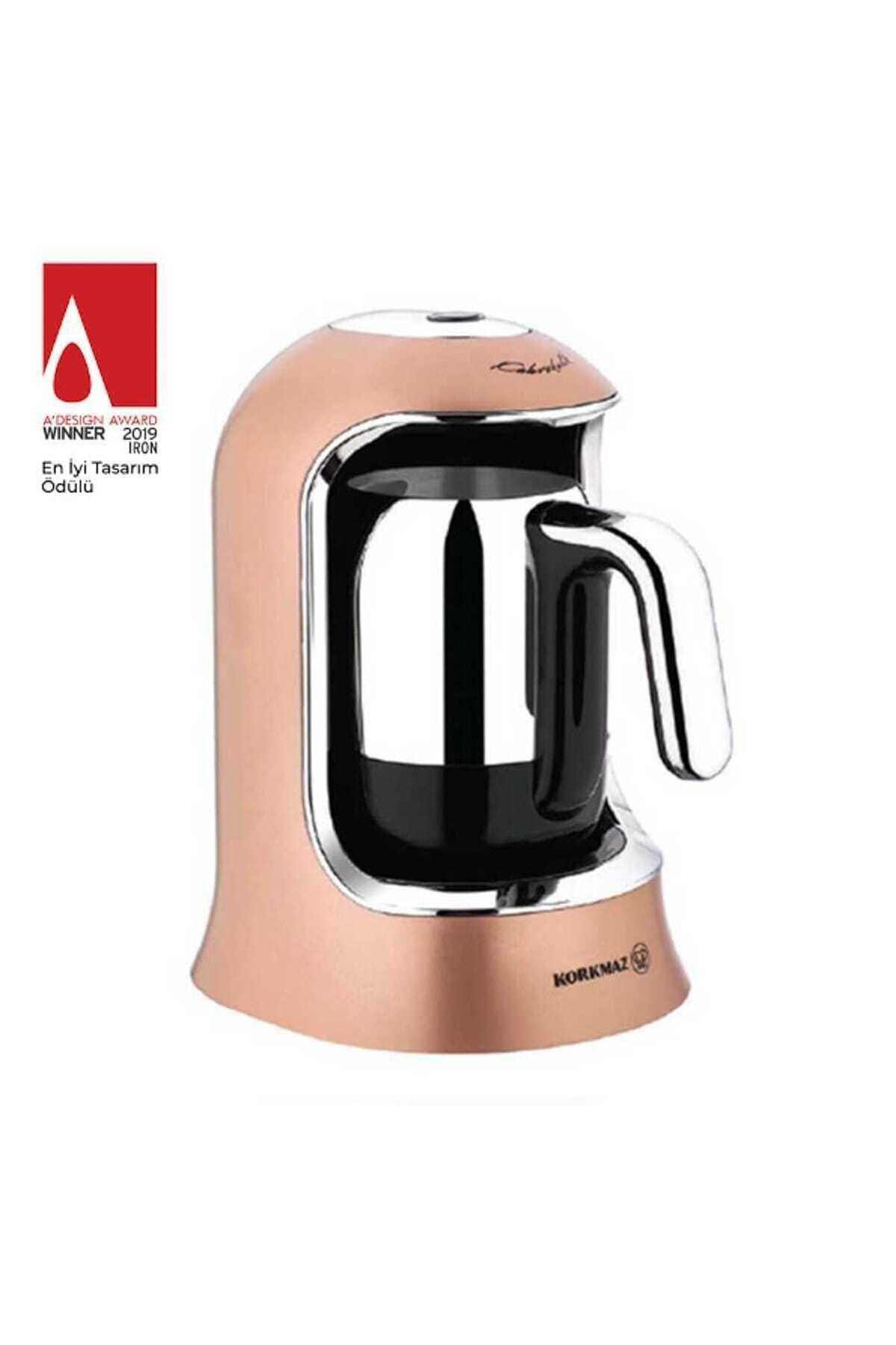 KORKMAZ Kahvekolik Rosegold Krom Otomatik Kahve Makinesi A860-06 2