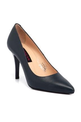 Tergan Kadın Lacivert Deri Ayakkabı 65653o15