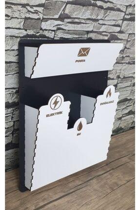 Znl Home Beyaz Renk Apartman Girişi Ahşap Faturalık & Posta Kutusu