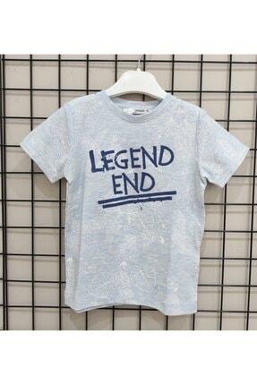 NK Erkek Çocuk Mavi Yaprak Baskılı T-Shirt