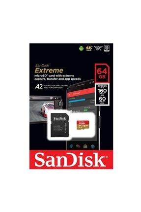 SanDisk Extreme 64gb 160mb s Microsdxc Hafıza Kart