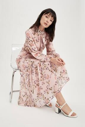 DeFacto Modest Gömlek Yaka Bağcık Detaylı Uzun Kollu Elbise