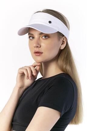 Y-London 14069 Metal Aksesuarlı Beyaz Tenisçi Şapkası