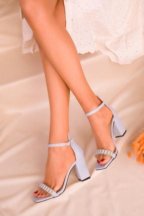 SOHO Mavi Kadın Klasik Topuklu Ayakkabı 16232