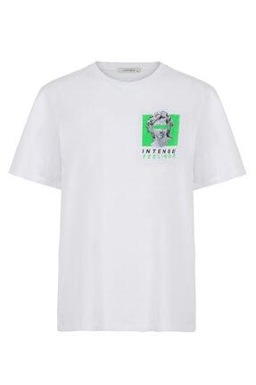 Nocturne Heykel Baskılı Tişört