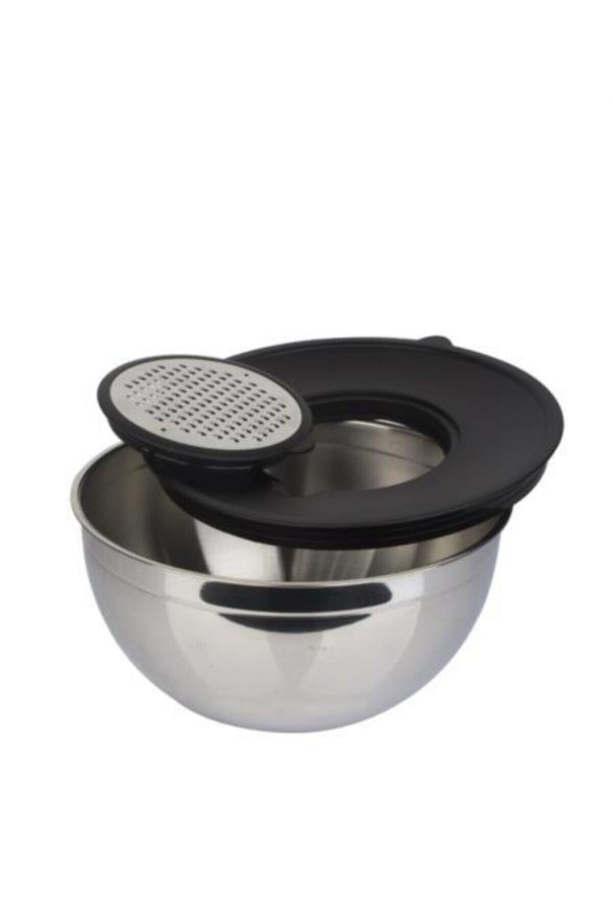 ACAR Karat 24 Cm Çelik Rendeli Karıştırma Kabı - Rendeli 1