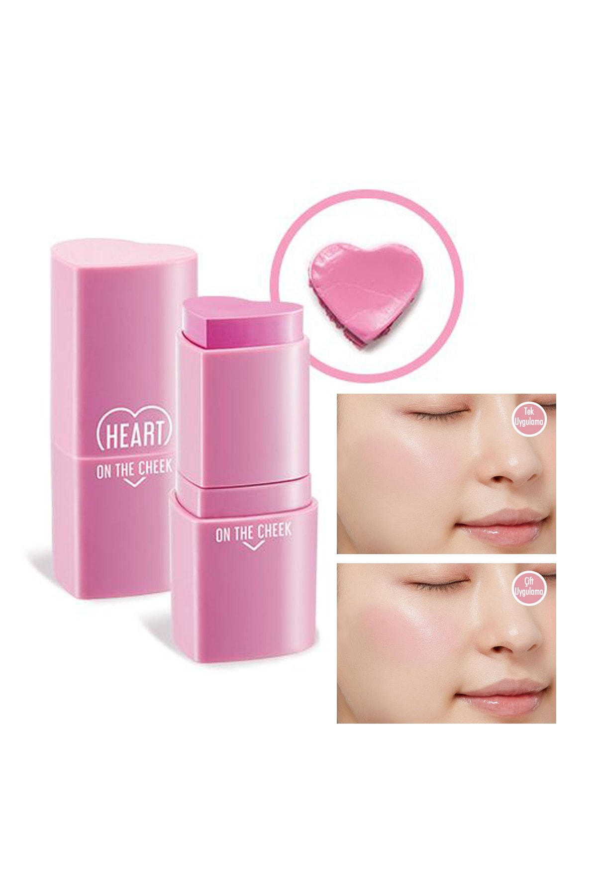 Missha Nemli Yapıda Stick Kalp Allık APIEU Heart On The Cheek (VL01/TMI)