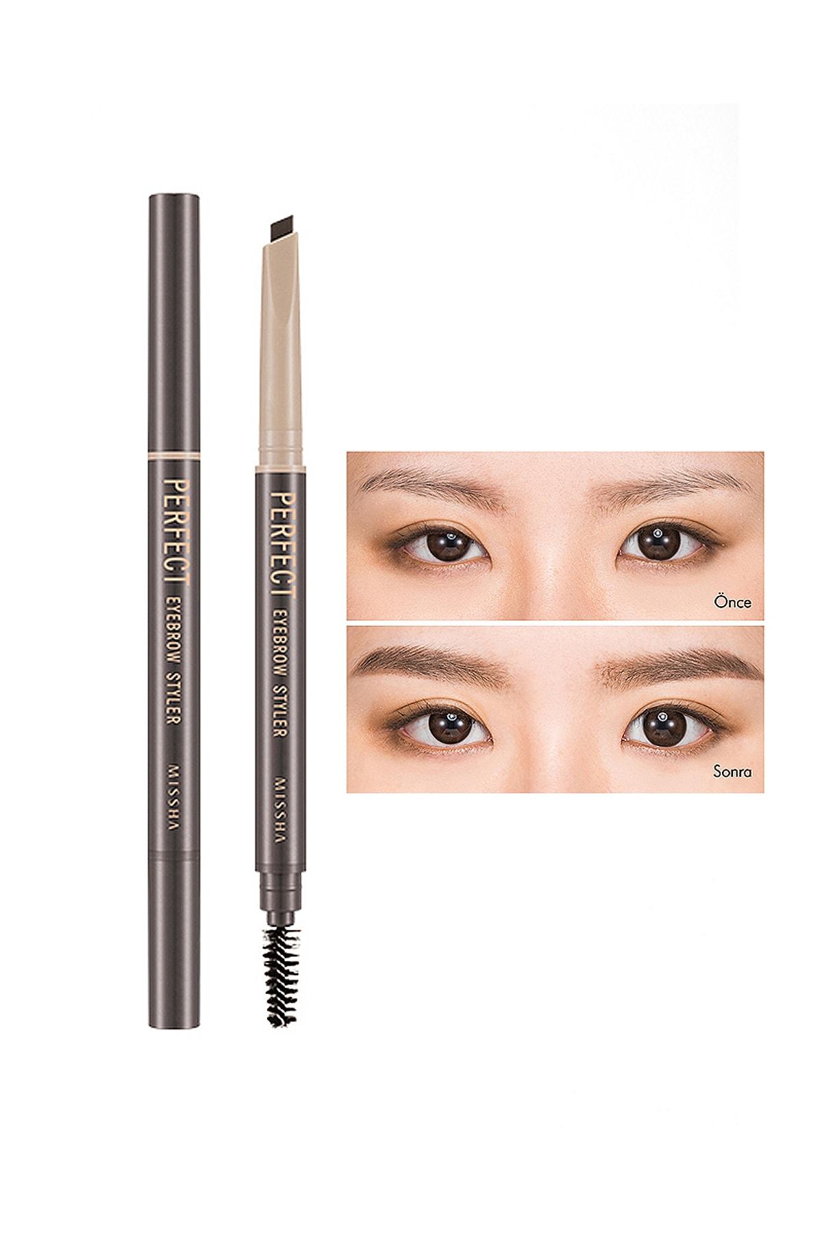 Missha Uzun Süre Kalıcı Asansörlü Kaş Kalemi  Perfect Eyebrow Styler (Dark Brown)