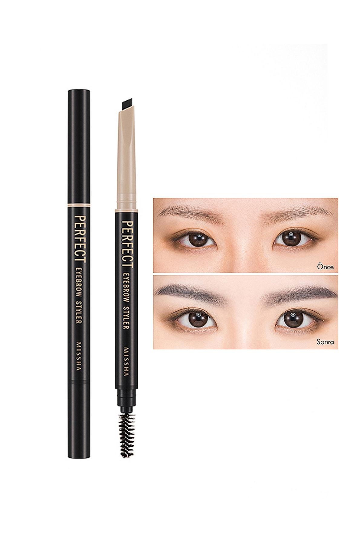 Missha Uzun Süre Kalıcı Asansörlü Kaş Kalemi  Perfect Eyebrow Styler (Black)
