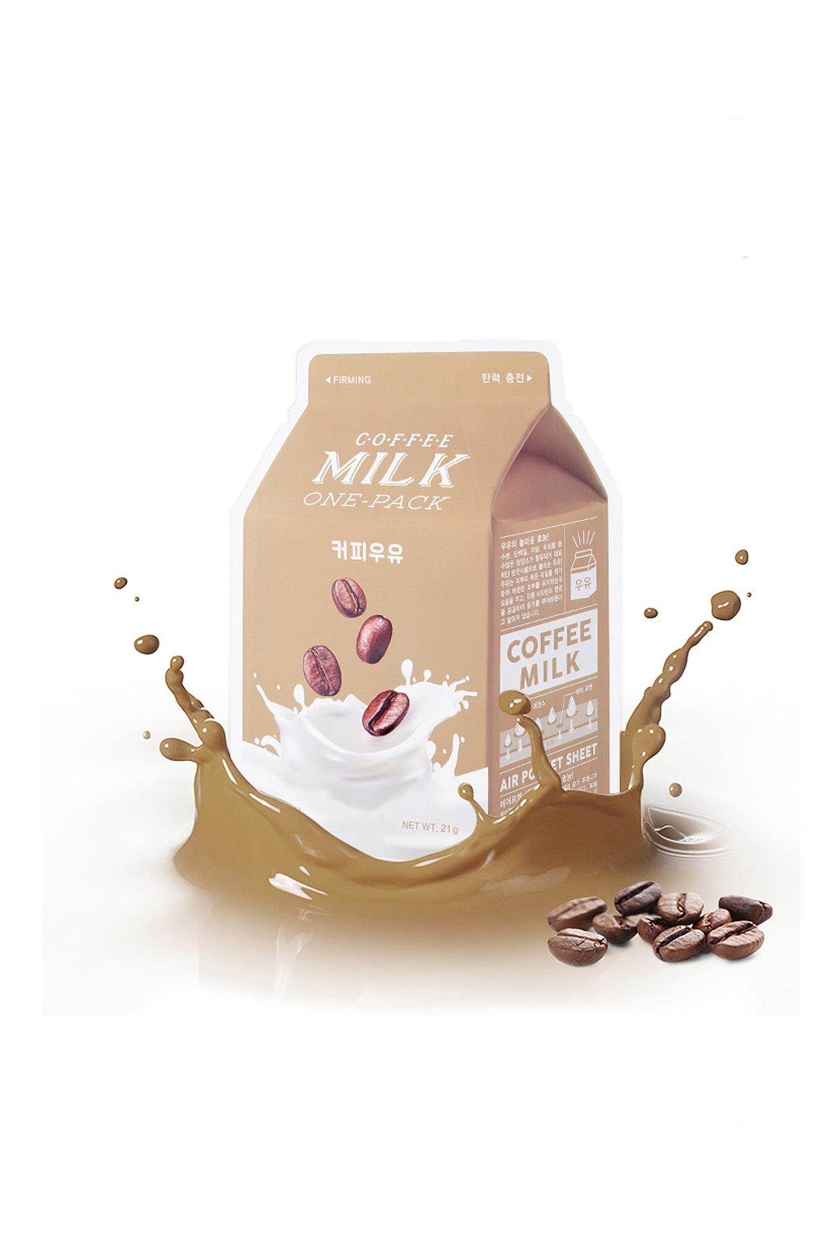 Missha Yaşlanma Karşıtı Yaprak Maske(Kahve-Süt) APIEU Coffee Milk One-Pack