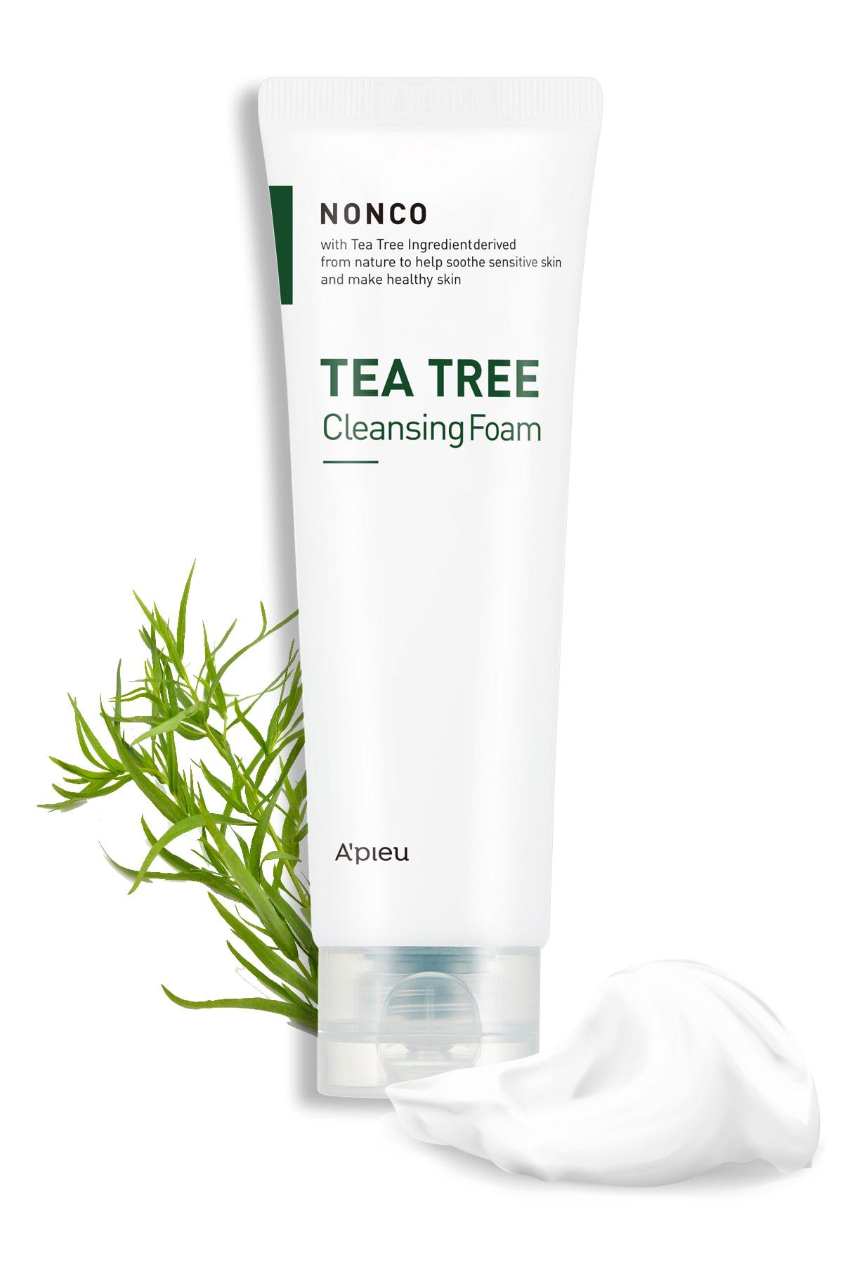 Missha Sivilceli Ciltler İçin Çay Ağacı yağı Temizleyici 130ml APIEU Nonco Tea Tree Cleansing Foam 1