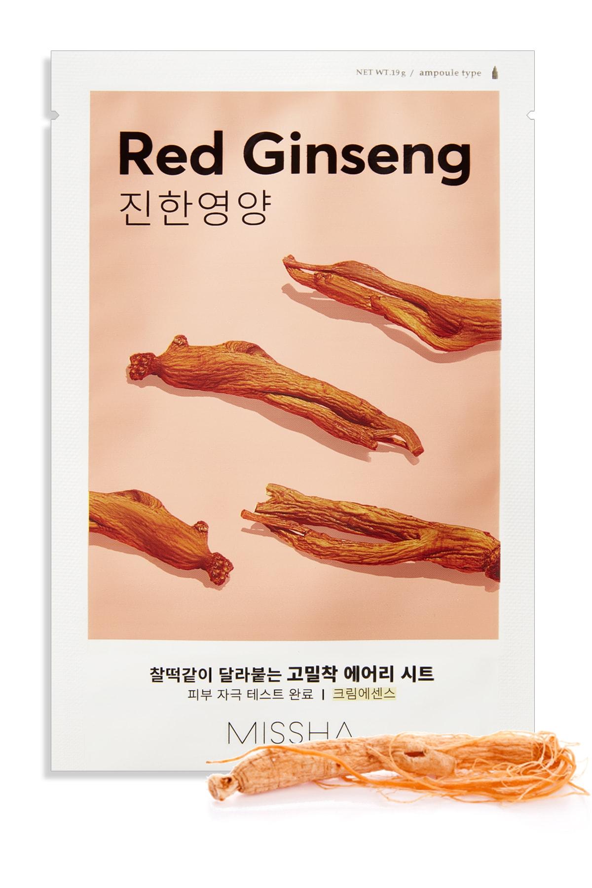 Missha Kırmızı Ginsengli Canlandırıcı Yaprak Maske (1ad) Airy Fit Sheet Mask Red Ginseng