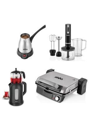Sinbo Çaycı Blender Seti Çelik Cezve Tost Makinesi Çeyiz Seti 4 Lü