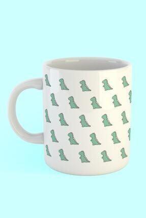 Printhome Dinozor Desen Baskılı Kahve Kupası