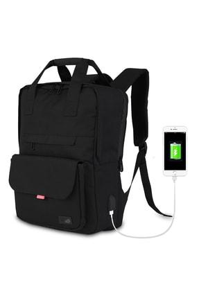 My Valice Smart Bag Usb Şarj Girişli Akıllı Sırt Çantası 1205 Siyah