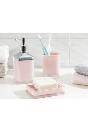 English Home Elegance 3'lü Banyo Seti 17,5x6,5x6,5 Cm+9x6,5x6,5 Cm+1 Pudra