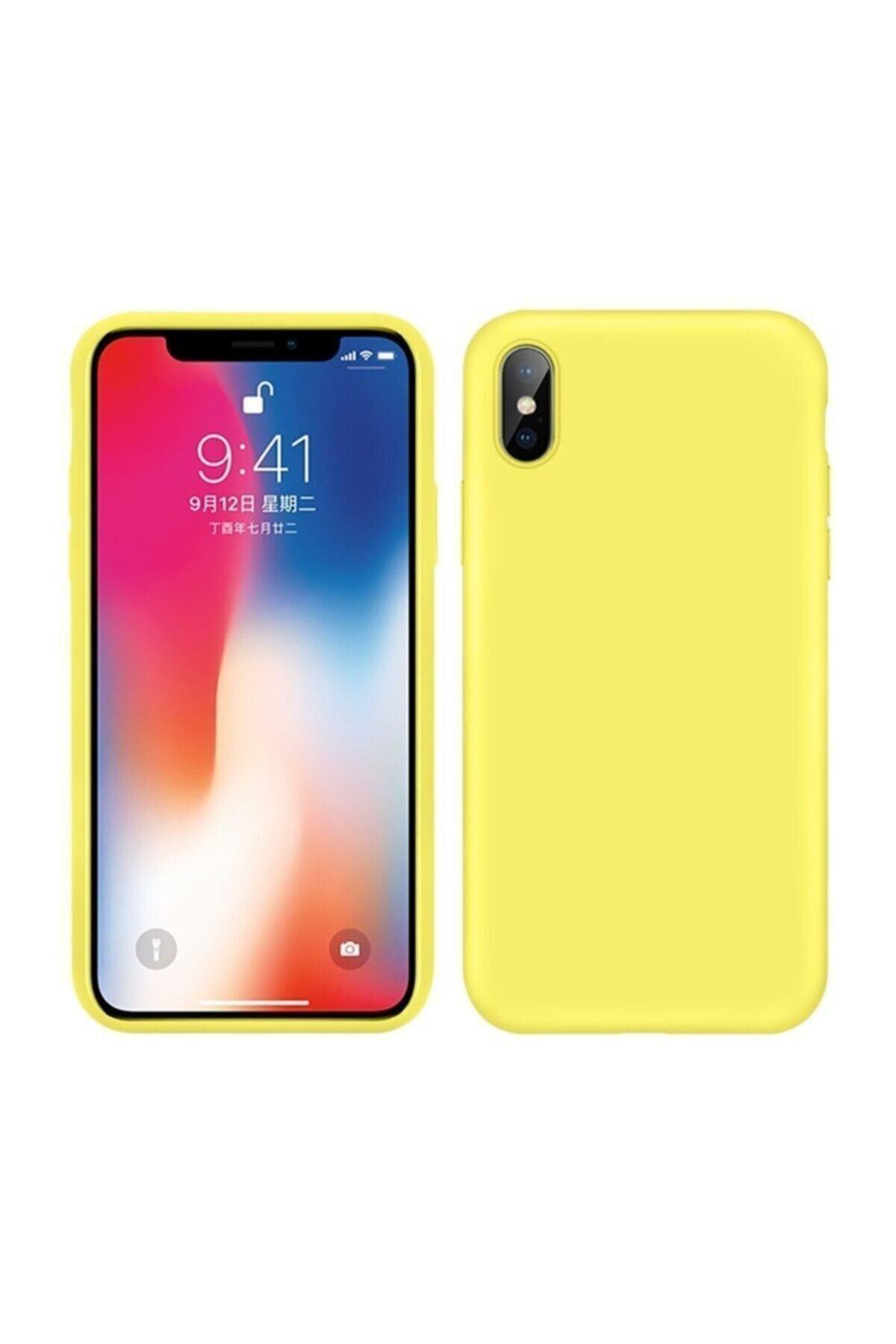 Mopal Iphone X / Xs Içi Kadife Lansman Silikon Kılıf 1