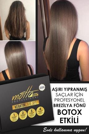 Motto Plus Brezilya Fönü Keratini 4'lü Set - Şampuan+Keratin+Saç Kremi +Saç Serumu (tarak-fırça-kap Hediyeli