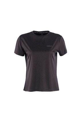 lumberjack CT123 BASIC PES C NECK T- Siyah Kadın T-Shirt 100581799