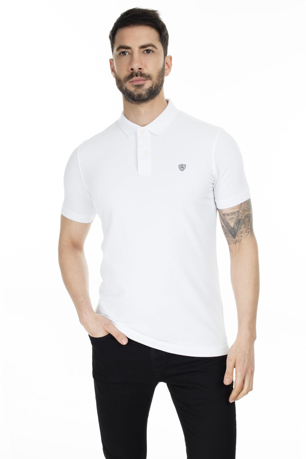 Lufian Laon Spor Polo T- Shirt Beyaz