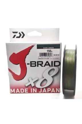 DAIWA J-braid 8b Koyu Yeşil 150m 0,16 Mm Ip Misina