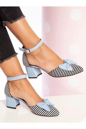 ayakkabıhavuzu Kadın Mavi Topuklu Ayakkabı
