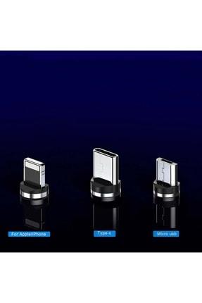 Shotex Samsung Galaxy Z Flip Cep Telefonu Uyumlu 3in1 Mıknatıslı Hızlı Şarj Kablosu Şarz Aleti Kablosu