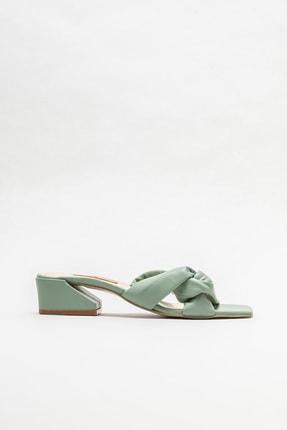 Elle Shoes Kadın Yeşil Topuklu Terlik